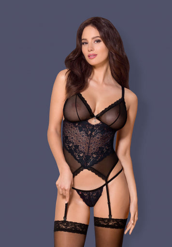866-COR-1 – Flirty Corset & Matching Thong