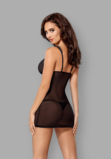 869-CHE-1 Subtle Chemise & Matching Thong