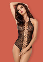 B113 - Spicy Black Crotchless Body Suit