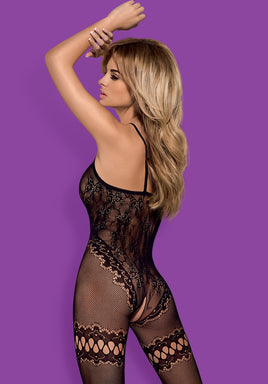 F213- Seductive Black Bodystocking
