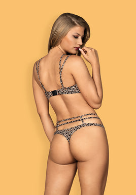 Selvy  - Wild Set - Animal Print Bra & Matching Thong