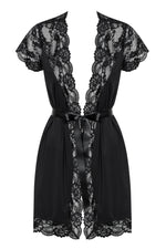 810-PEI-1 - Elegant Black Lace Robe