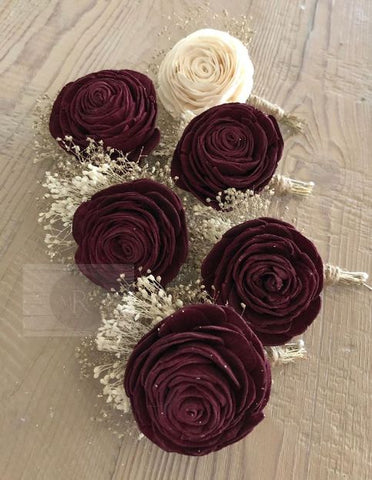 Dark Colored Corsages