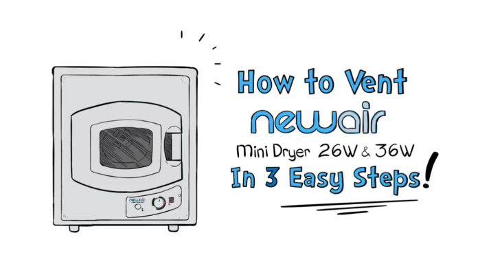 How to Vent Your NewAir MiniDryer26W & 36W in 3 Easy Steps