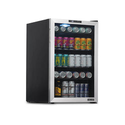 NewAir 160 Can Freestanding Beverage Fridge in Stainless Steel with SplitShelf™ and Precision Digital Thermostat