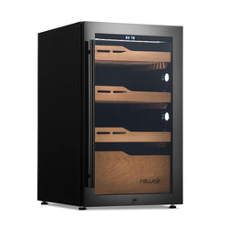 Remanufactured Newair 840 Count Electric Cigar Humidor, Built-in Humidification System with Opti-Temp™ Heating and Cooling Function, Precision Temperature, LED Lighting, and Peek-In™ Spanish Cedar Drawers