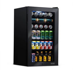 Remanufactured NewAir 126 Can Freestanding Beverage Fridge in Onyx Black with Adjustable Shelves