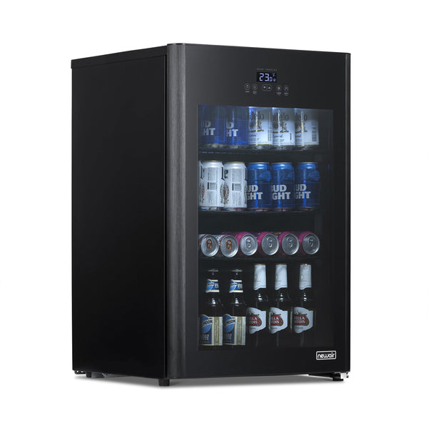 NewAir Beer Fridge Froster 125 Can Freestanding  in Black with Party and Turbo Mode