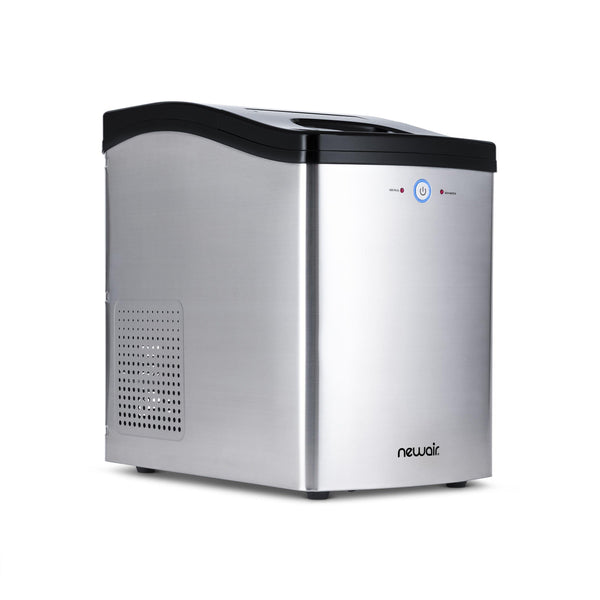 Remanufactured NewAir Countertop Nugget Ice Maker in Stainless Steel, 40 lbs. of Ice a Day with Melt-Resistant Interior and BPA-Free Parts