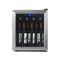 NewAir Freestanding 16 Bottle Compressor Wine Fridge in Stainless Steel