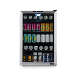 NewAir 160 Can Freestanding Beverage Fridge in Stainless Steel