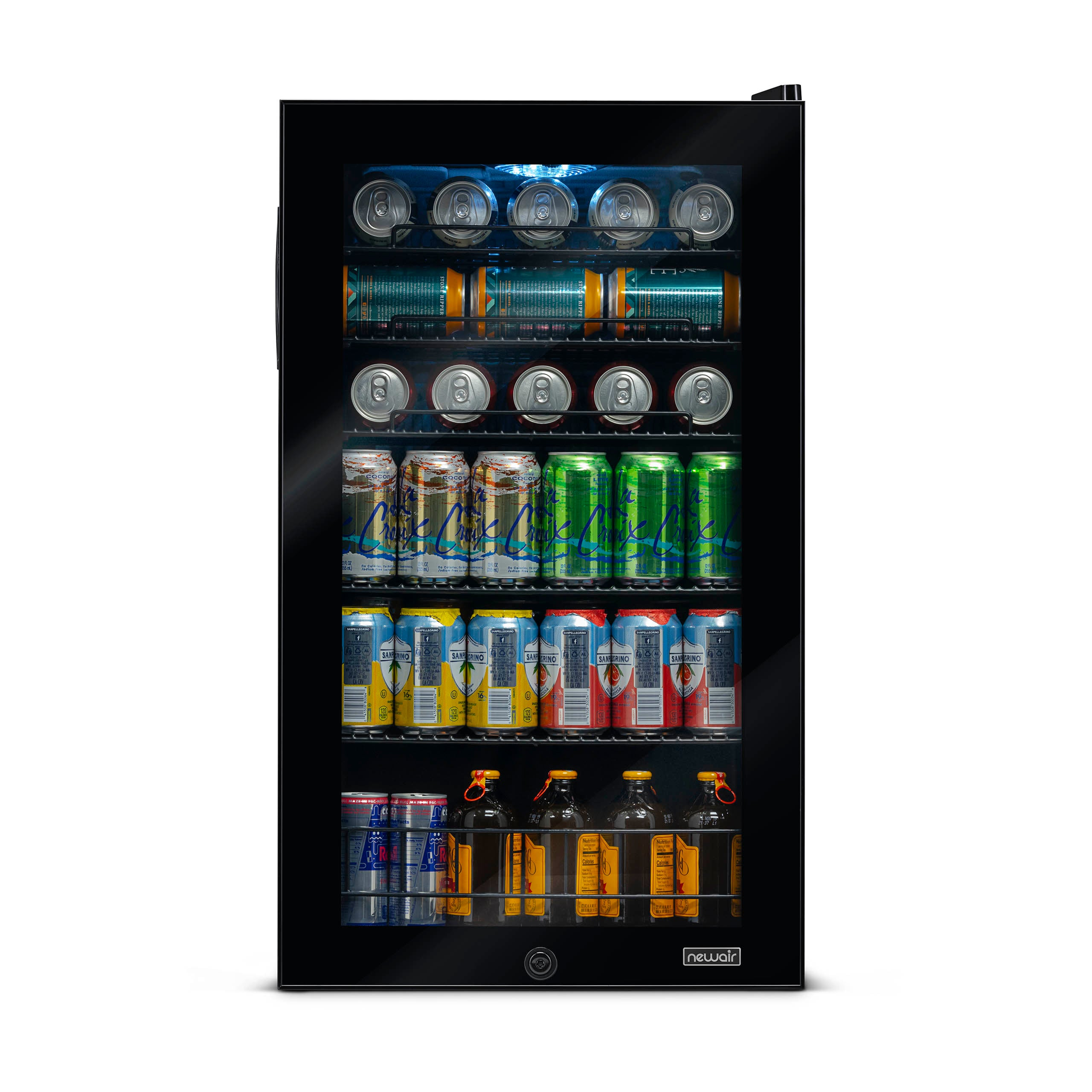NewAir_126_Can_Freestanding_Beverage_Fridge_in_Onyx_Black_with_Adjustable_Shelves