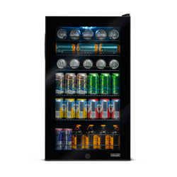 NewAir 126 Can Freestanding Beverage Fridge in Onyx Black
