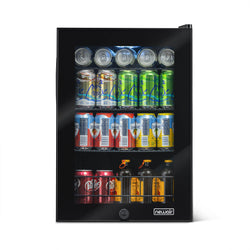 Remanufactured NewAir 90-Can Freestanding Beverage Fridge in Onyx Black