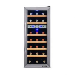 NewAir 21 Bottle Freestanding Dual Zone Wine Fridge, Quiet Operation