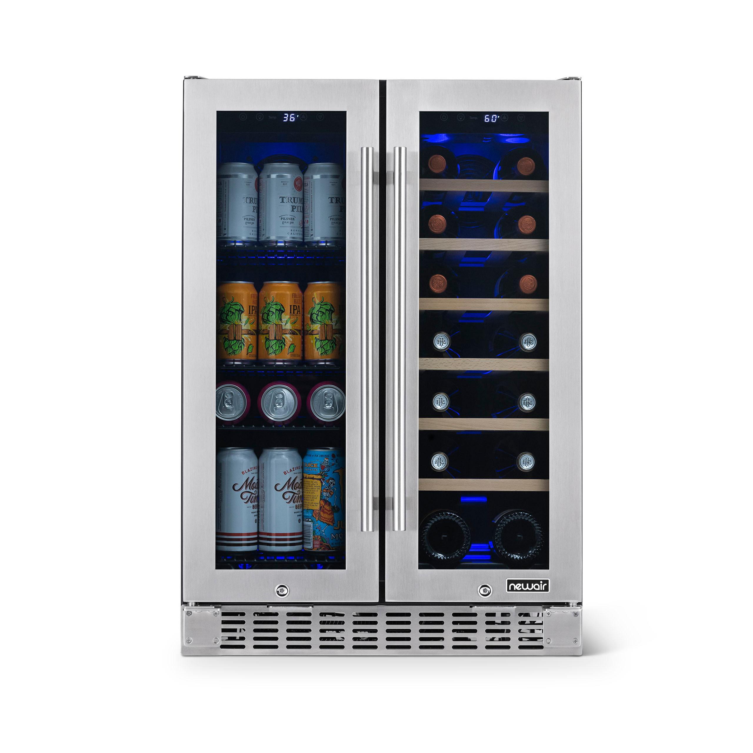 Newair Wine Beer Fridge 24 Built In With Glass Doors Free Shipping