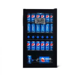 "Pepsi ""Pepsi & Pete"" 126 Can Freestanding Custom Beverage Fridge with Adjustable Shelves"
