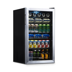 Remanufactured NewAir 126 Can Freestanding Beverage Fridge in Stainless Steel