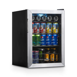 Blemished Newair 90-Can Stainless Steel, Freestanding Beverage Fridge