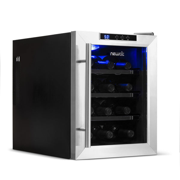 Remanufactured NewAir 12 Bottle Freestanding Countertop Wine Fridge - NewAir