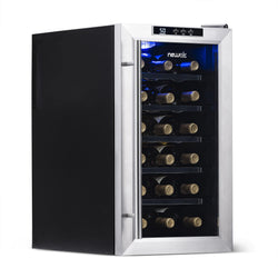 Blemished NewAir 18-Bottle Stainless Steel Thermoelectric Wine Cooler | AW-181E-BL