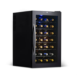 NewAir 28 Bottle Freestanding Wine Fridge in Black