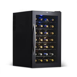 Remanufactured NewAir 28 Bottle Freestanding Wine Fridge in Black