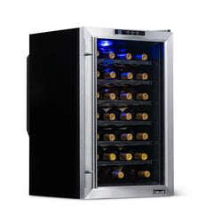 NewAir 28 Bottle Freestanding Wine Fridge in Stainless Steel