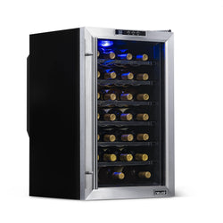 Remanufactured NewAir 28 Bottle Freestanding Wine Fridge in Stainless Steel