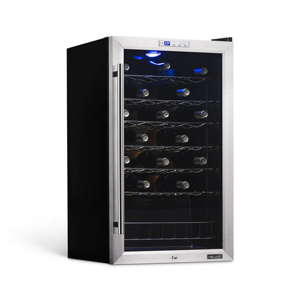 NewAir Freestanding 33 Bottle Compressor Wine Fridge in Stainless Steel