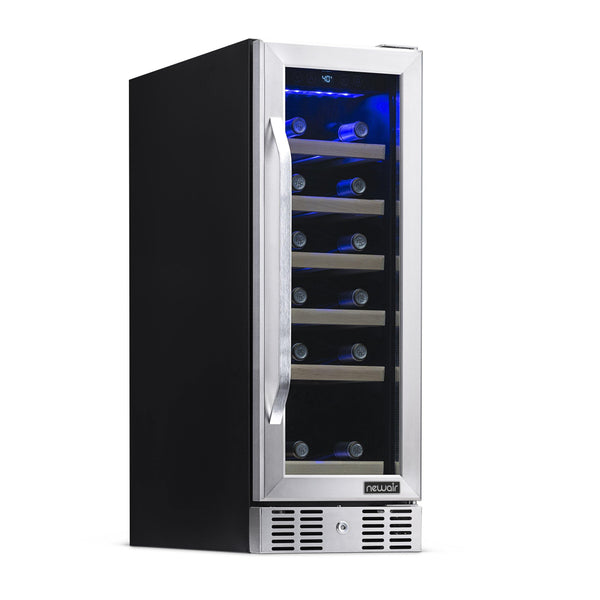 "Remanufactured NewAir 12"" Built-In 19 Bottle Compressor Wine Fridge"