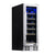 "NewAir 12"" Built-In 19 Bottle Wine Fridge in Stainless Steel, with Premium Beech Wood Shelves"