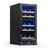 "NewAir 15"" Built-in 29 Bottle Dual Zone Compressor Wine Fridge in Black Stainless Steel NWC029BS00"