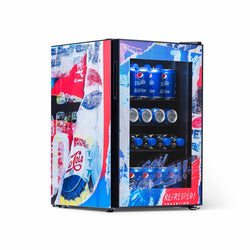 "Pepsi 90 Can ""Pepsi Rewind"" Freestanding Beverage Fridge, Chills Down to 37 Degrees"