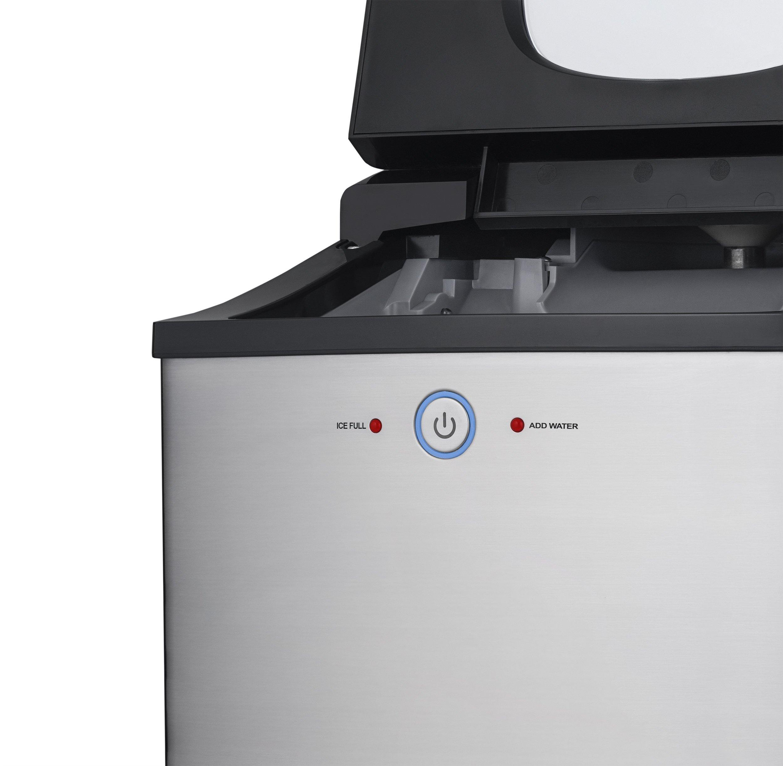 Newair Countertop Nugget Ice Maker 40 Lb Of Ice A Day In Stainless St