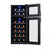 NewAir 21 Bottle Freestanding Dual Zone Wine Fridge in Black, Quiet Operation