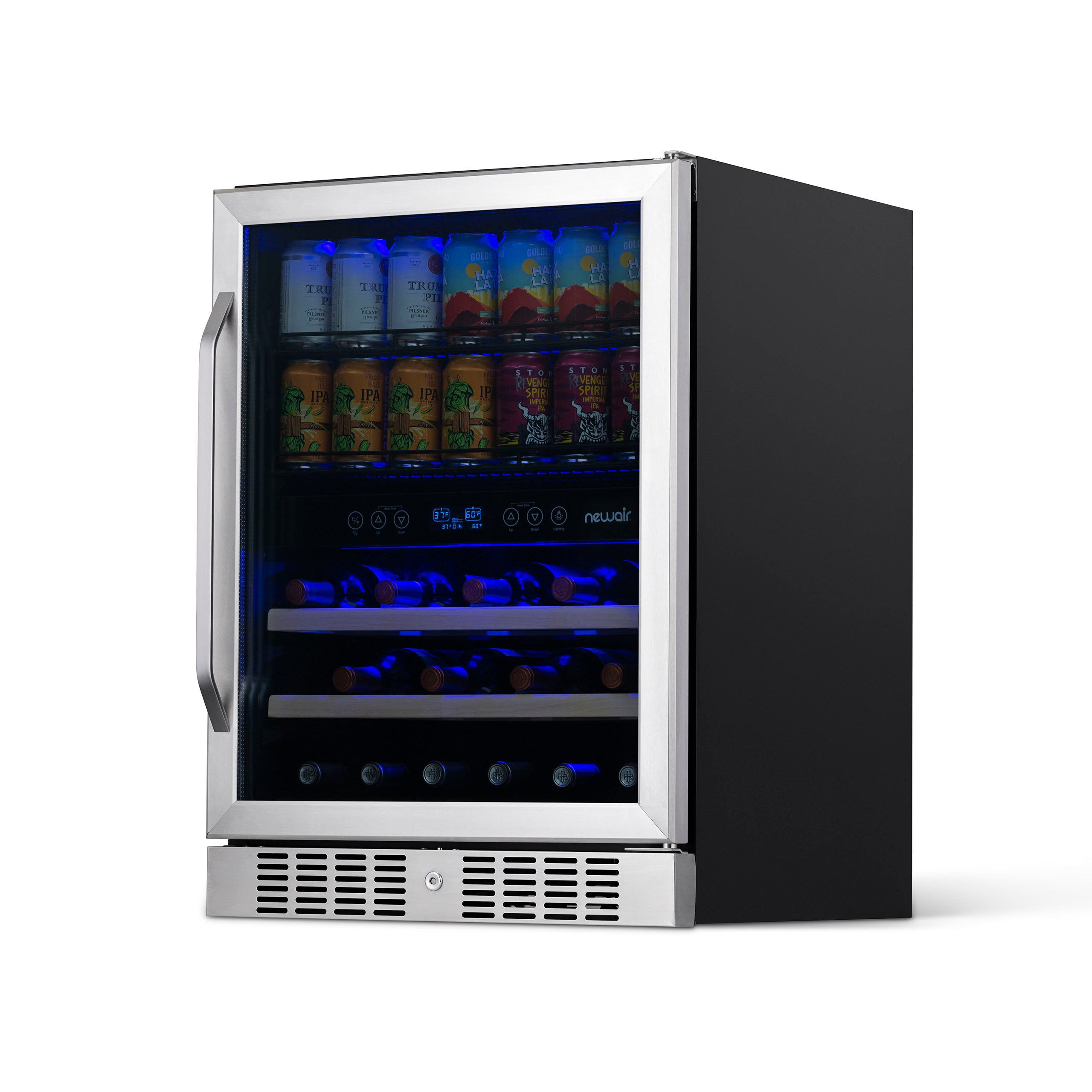 Newair 24 Built In 70 Can 20 Bottle Wine And Beverage Fridge