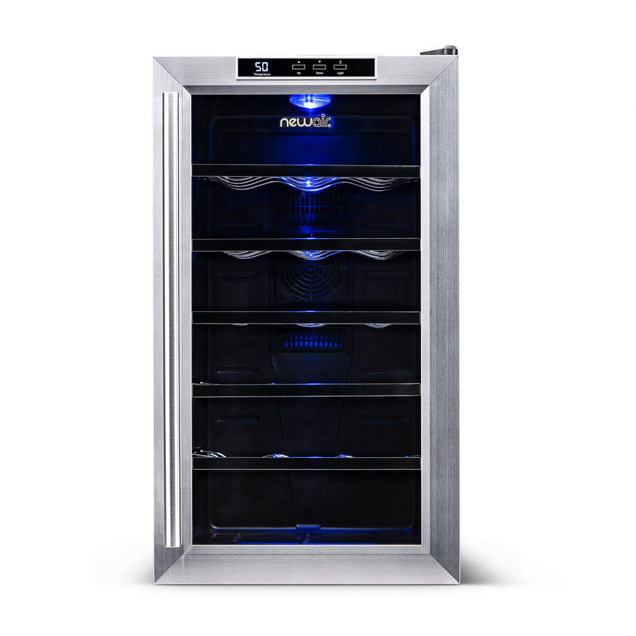 a643c45d95c ... NewAir 18-Bottle Stainless Steel Thermoelectric Wine Cooler