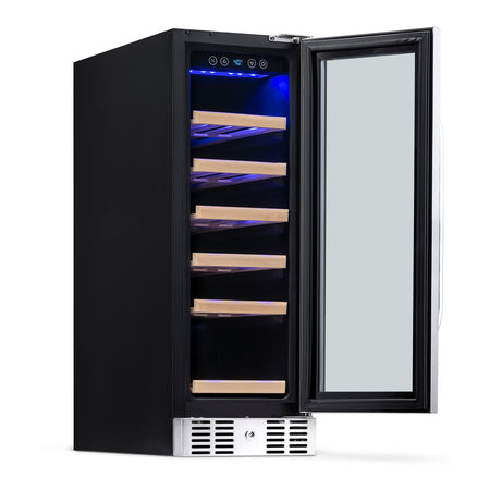 "NewAir 12"" Built-In 19 Bottle Compressor Wine Fridge"