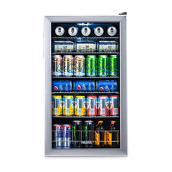 Blemished NewAir 126-Can Freestanding, Stainless Steel Beverage Fridge