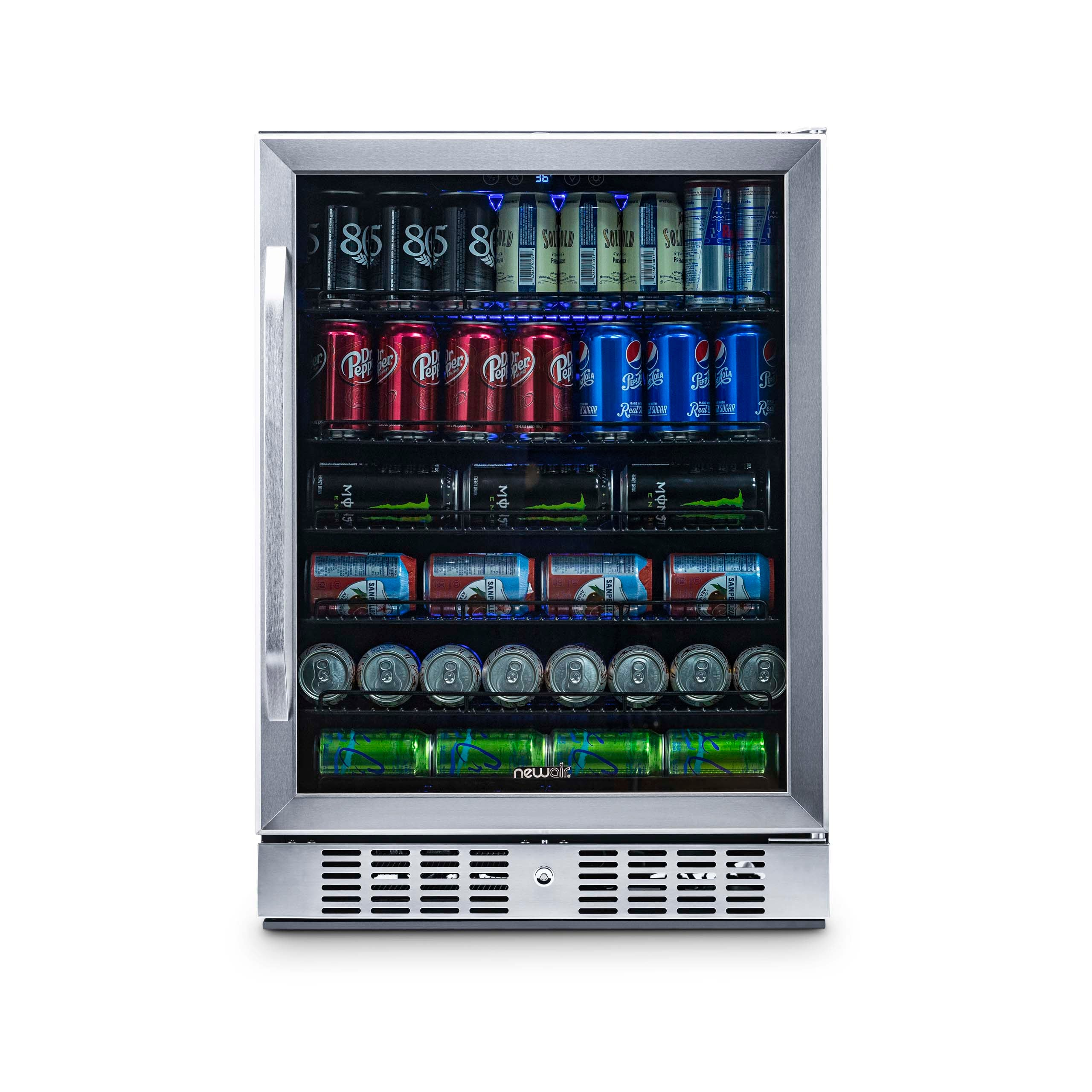 "NewAir_24""_Builtin_177_Can_Beverage_Fridge_in_Stainless_Steel"