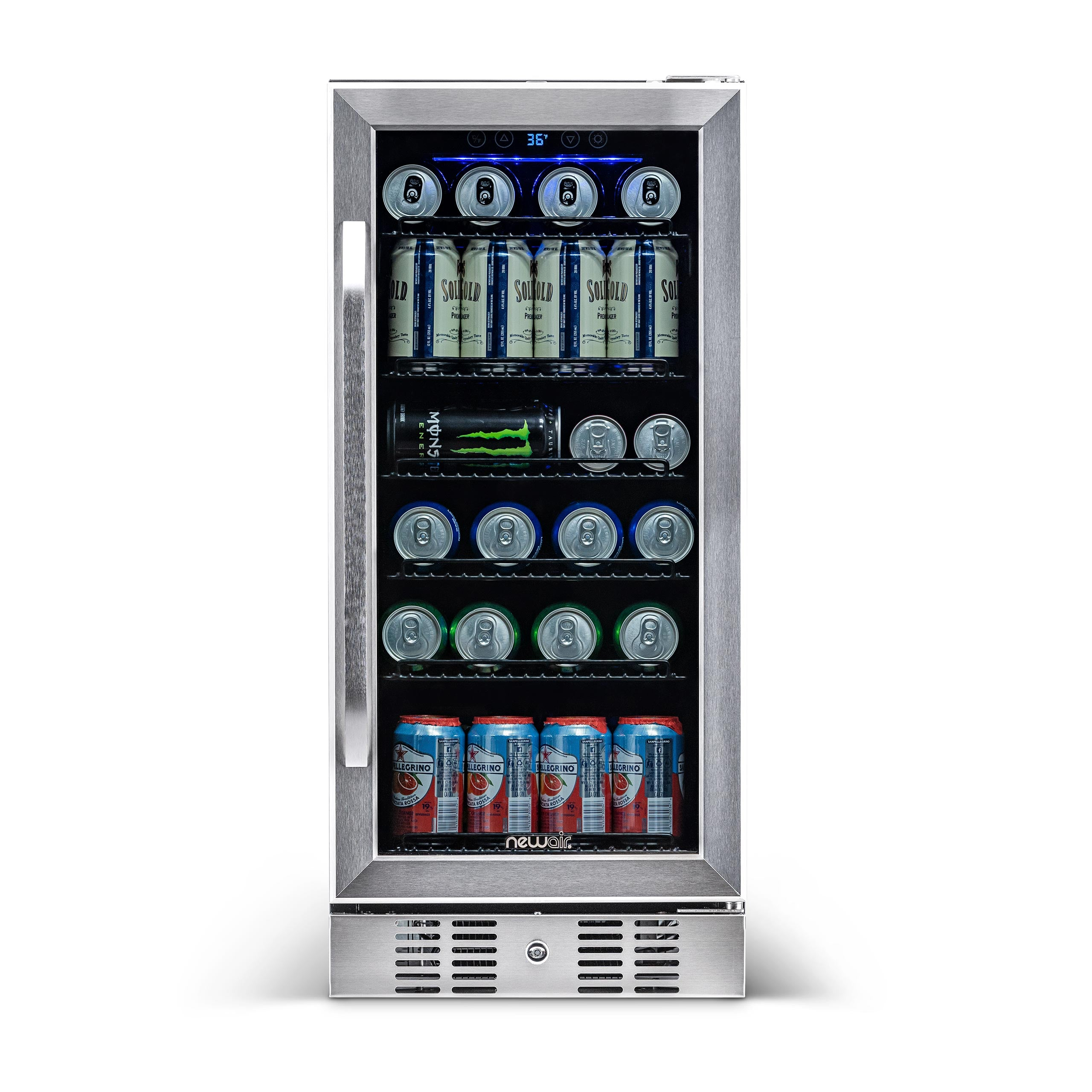 "NewAir_15""_Builtin_96_Can_Beverage_Fridge_in_Stainless_Steel"