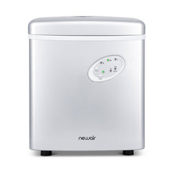 Silver NewAir Countertop Ice Maker, 28 lbs. of Ice a Day