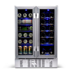 NewAir 18 Bottle & 58 Can Wine & Beverage Cooler | AWB-360DB