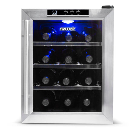 Blemished 12 Bottle Countertop Thermoelectric Wine Cooler | NewAir AW-121E