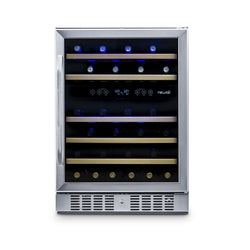 "Remanufactured NewAir 24"" Built-in 46 Bottle Dual Zone Compressor Wine Fridge"