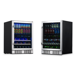 "24"" Built-in Combo Beverage & Wine Fridge Bundle"