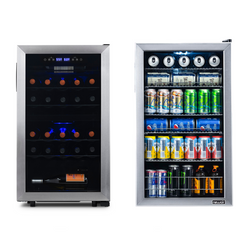 Freestanding Wine & Beverage Fridge Bundle - NewAir