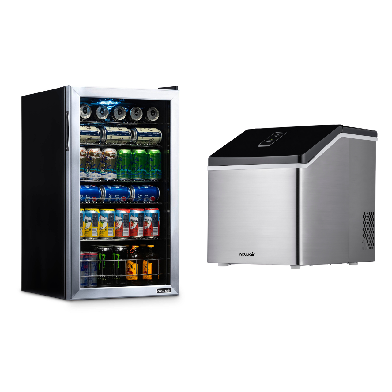 Dry Bar Mini Fridge Ice Maker Bundle Newair