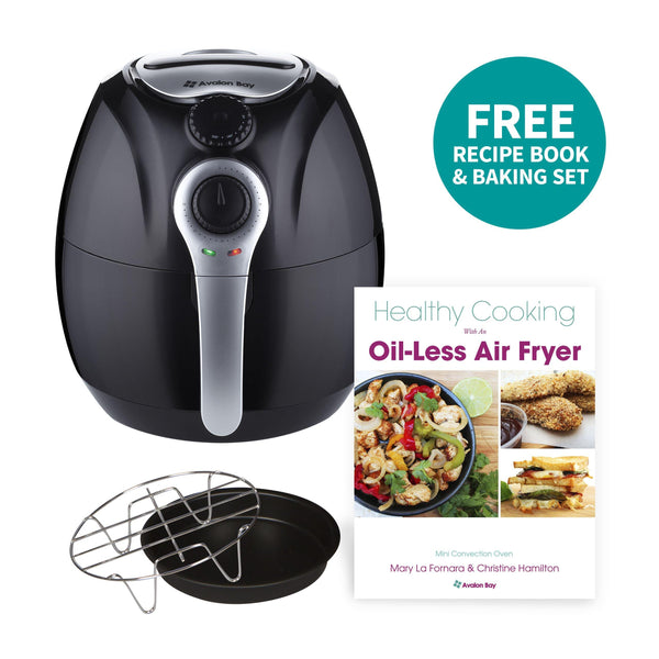 Black Avalon Bay 3.7 Quart Manual Air Fryer